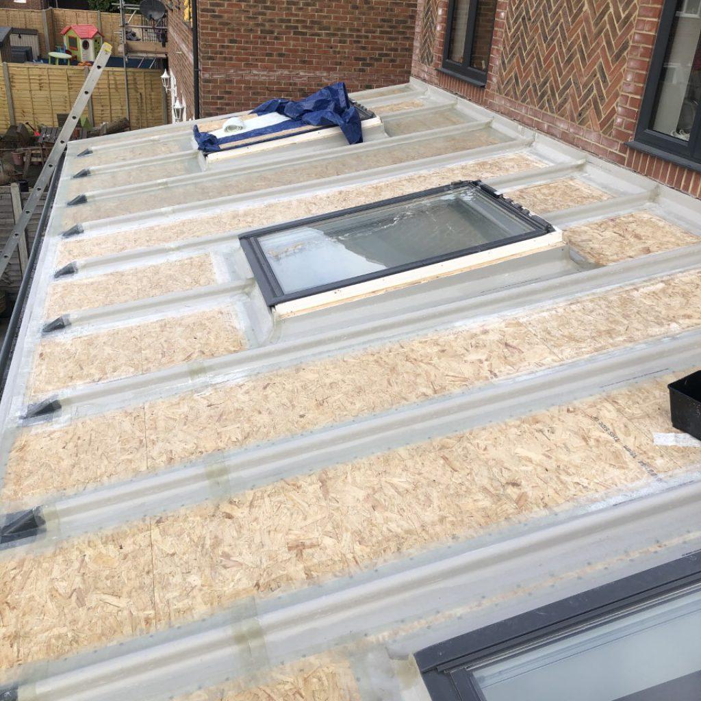 GRP Fibreglass Roof (During)